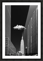 Single Cloud Picture Frame print