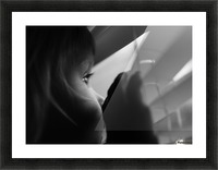 Searching for something Picture Frame print