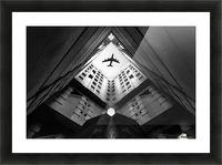 Plane city Picture Frame print
