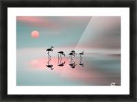 Family flamingos Picture Frame print