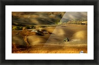 Preparation for sowing - Volterra (PI) - Toscana - Italy Picture Frame print