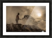 New world creation Picture Frame print