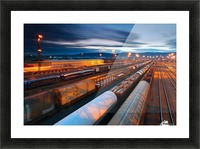 Freight station Picture Frame print