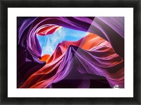 Magical Lower Antelope Canyon Picture Frame print