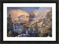 Mountain Light Picture Frame print