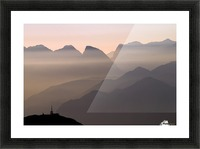 Alpine Sunset Picture Frame print