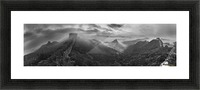 Misty Morning at Great Wall Picture Frame print