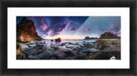 Utakleiv sunset Picture Frame print