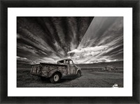 Old Truck (mono) Picture Frame print