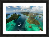 Green paradise Picture Frame print