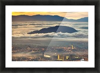 Between heaven and earth Picture Frame print