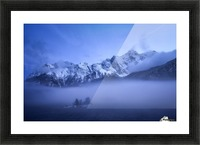 Misty Winter Evening Picture Frame print