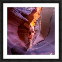 Fire in Canyon Picture Frame print