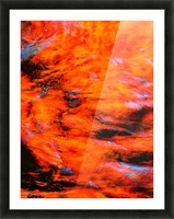 The Flock Orange Picture Frame print
