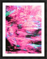 The Flock Pink Picture Frame print