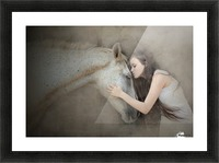 a kiss Picture Frame print