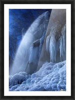 Frozen in the moonlight Picture Frame print