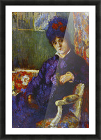 Seated Woman by Cassatt Picture Frame print