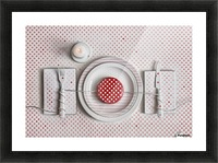 Dotted Dinner Picture Frame print