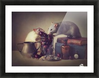 Snoozy and Jimmy Picture Frame print