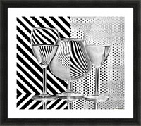 Dots and stripes Picture Frame print