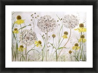 Alliums and heleniums Picture Frame print