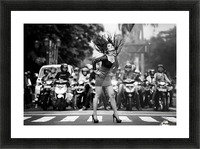 ignore it, enjoy poses on the streets Picture Frame print