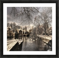 Bruges in Christmas dress Picture Frame print