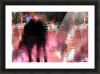 Rain above the funfair Picture Frame print