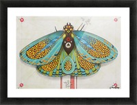 psychedelic butterfly Picture Frame print