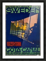 Sweden Gota Canal travel poster Picture Frame print