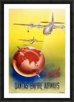Qantas Empire Airways travel poster 1938 Picture Frame print