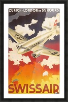 Zurich - London travel poster for Swissair Picture Frame print