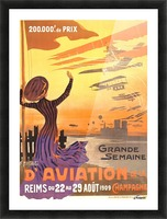 Reims France Aviation Poster Week August 22-29, 1909 Picture Frame print