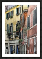 windows in Venice Picture Frame print