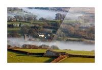 Brentor mist Picture Frame print