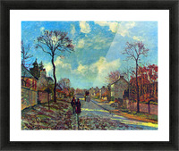 Strait of Louveciennes by Pissarro Picture Frame print