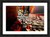 Courtyard shadows Picture Frame print