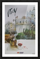 Italy Travel Poster by SAS Picture Frame print