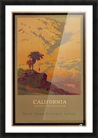 California American Vacation Land Picture Frame print