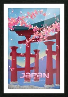 Japan Experience serenity travel poster Picture Frame print