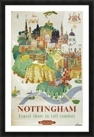 Nottingham vintage travel poster for British Railways Picture Frame print