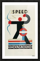 London Speed Underground poster Picture Frame print