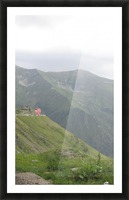 Landscape with mountain view at 2000 m altitude Picture Frame print