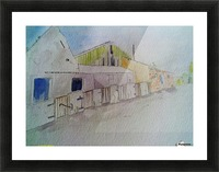 Abandoned Pig Farm Picture Frame print