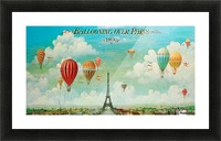 Ballooning over Paris Picture Frame print