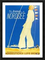Nordsee vintage German travel poster Picture Frame print