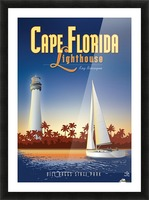 Cape Florida Lighthouse Picture Frame print