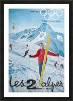 Olimpiade-ski Klasik Vintage Poster Picture Frame print