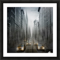 Graphic Art NYC 5th Avenue Traffic V Picture Frame print
